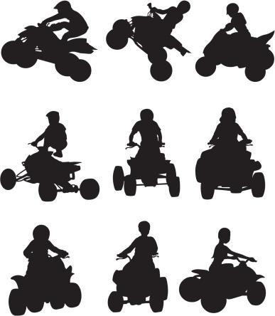 ATV biker in action