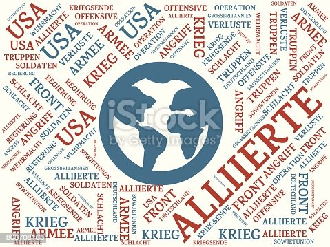 istock WELTKRIEG - Bilder mit Wörtern aus dem Bereich Weltkrieg, Wortwolke, Würfel, Buchstabe, Bild, Illustration 803708168