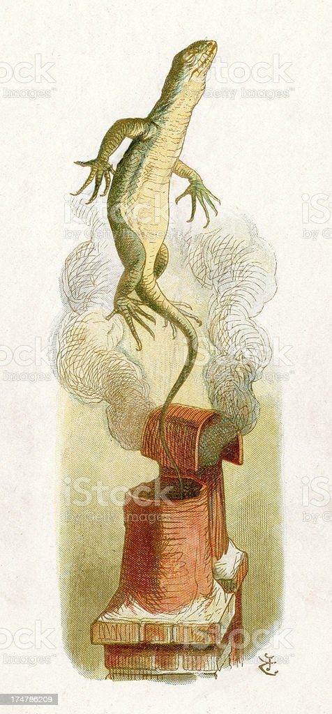 Bill the Lizard royalty-free bill the lizard stock vector art & more images of alice in wonderland - fictional character