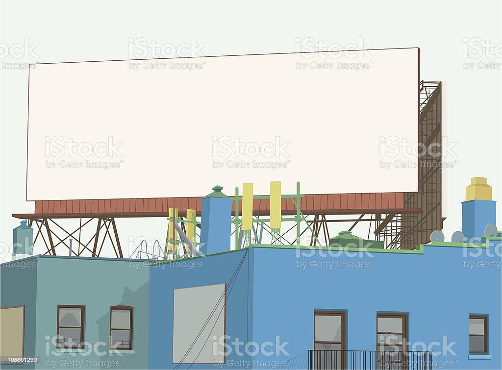 Billboard in Brooklyn vector art illustration