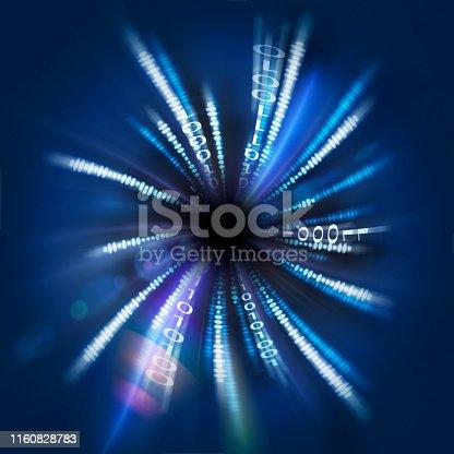 istock Binary Code Stream 1160828783