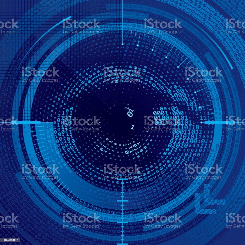 Binary eye vector art illustration