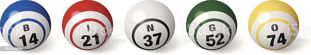 Bingo bolas - ilustração de arte em vetor