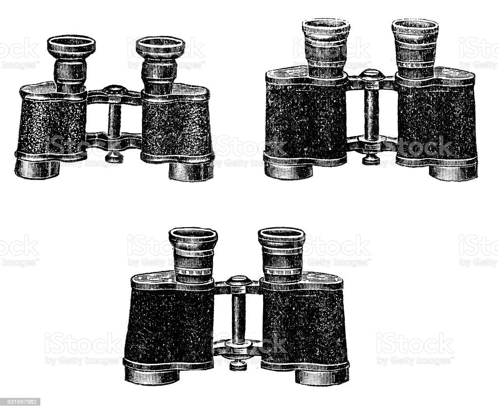 binoculars vector art illustration