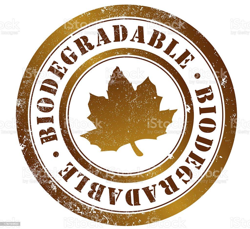 biodegradable de la firma - ilustración de arte vectorial