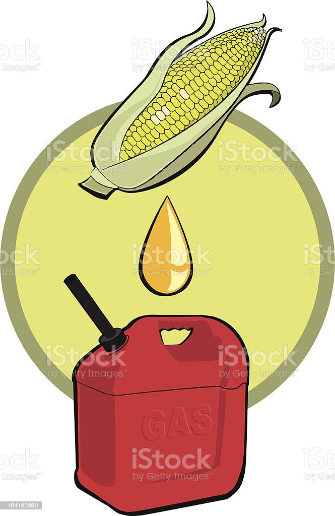 Biofuel ethanol royalty-free stock vector art
