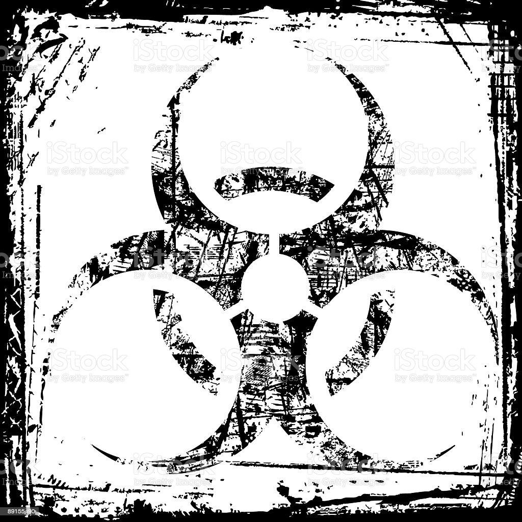 Biohazard Grunge royalty-free stock vector art