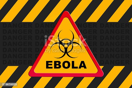 Biohazard quarantine area for ebola sign