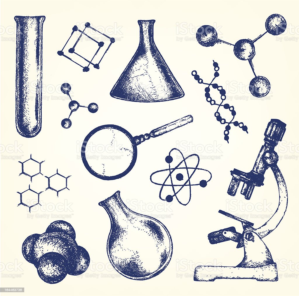 Biology and chemistry royalty-free stock vector art