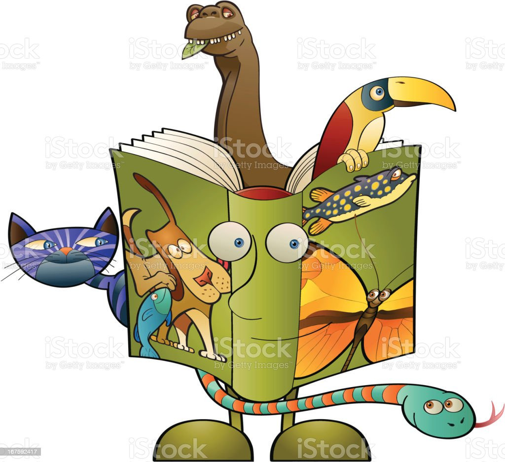 Biology textbook vector art illustration