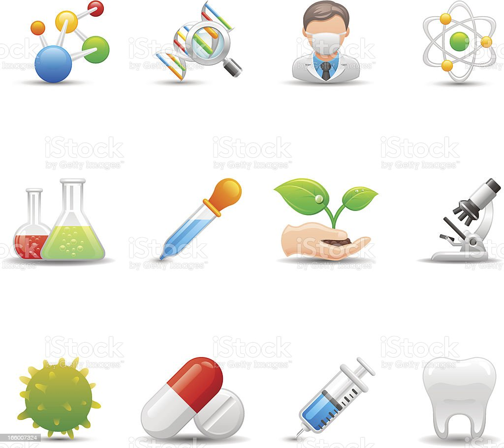 Biotechnology & Medicine Icon Set | Elegant Series royalty-free biotechnology medicine icon set elegant series stock vector art & more images of agriculture