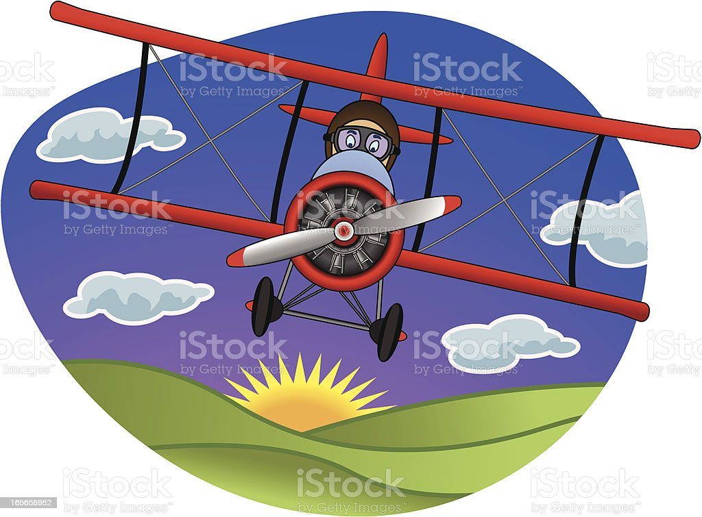 Biplane royalty-free biplane stock vector art & more images of adventure