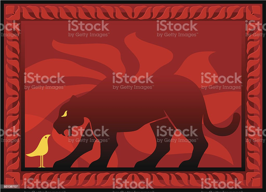 Bird and panther royalty-free bird and panther stock vector art & more images of backgrounds