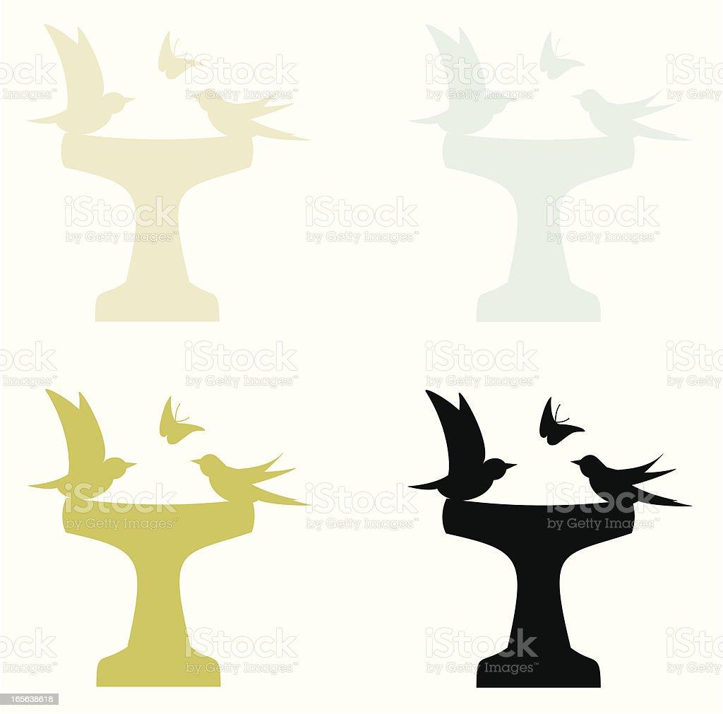 Bird Bath royalty-free bird bath stock vector art & more images of animal themes