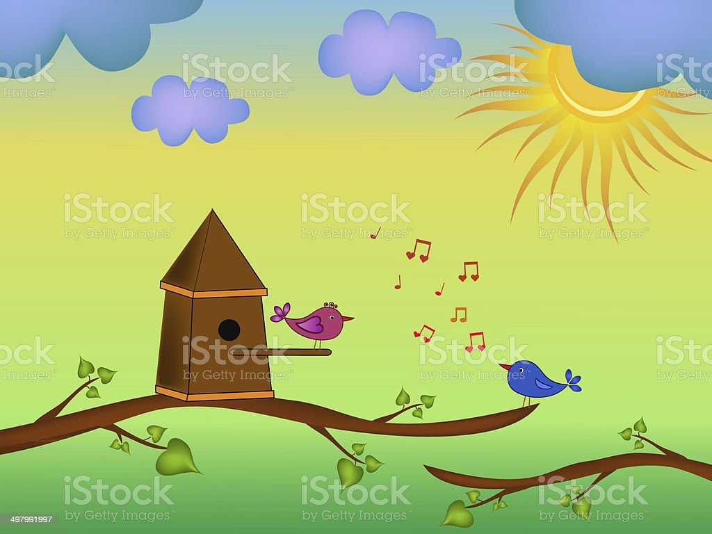 bird cartoon illustration royalty-free stock vector art