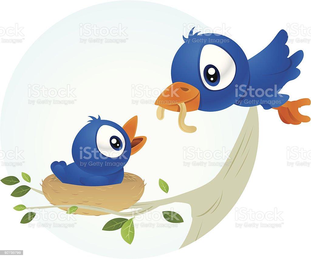 Bird Feeding  Affectionate stock vector