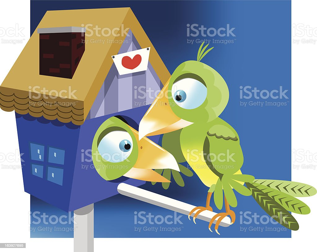 Bird house royalty-free stock vector art