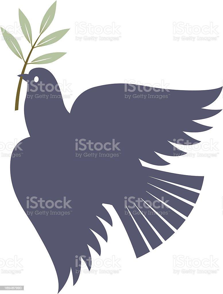 Bird of peace royalty-free stock vector art