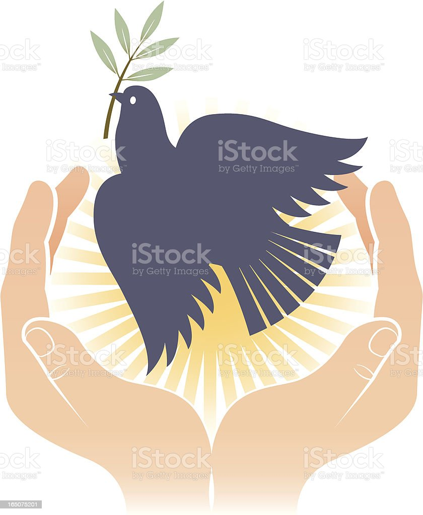 Bird of peace two. royalty-free stock vector art