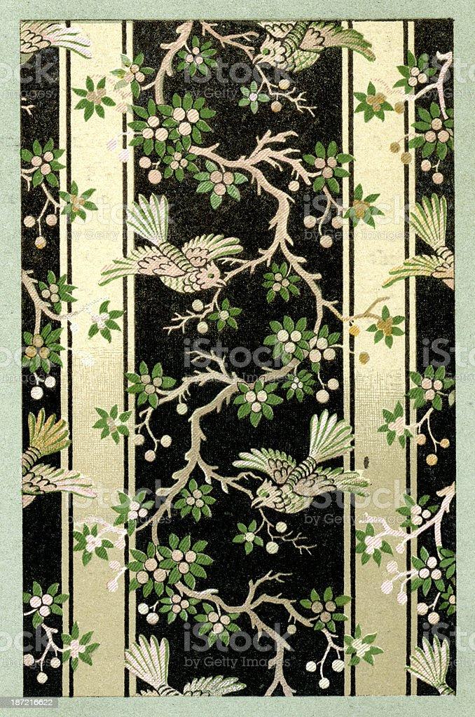 Bird Pattern - 17th Century royalty-free stock vector art
