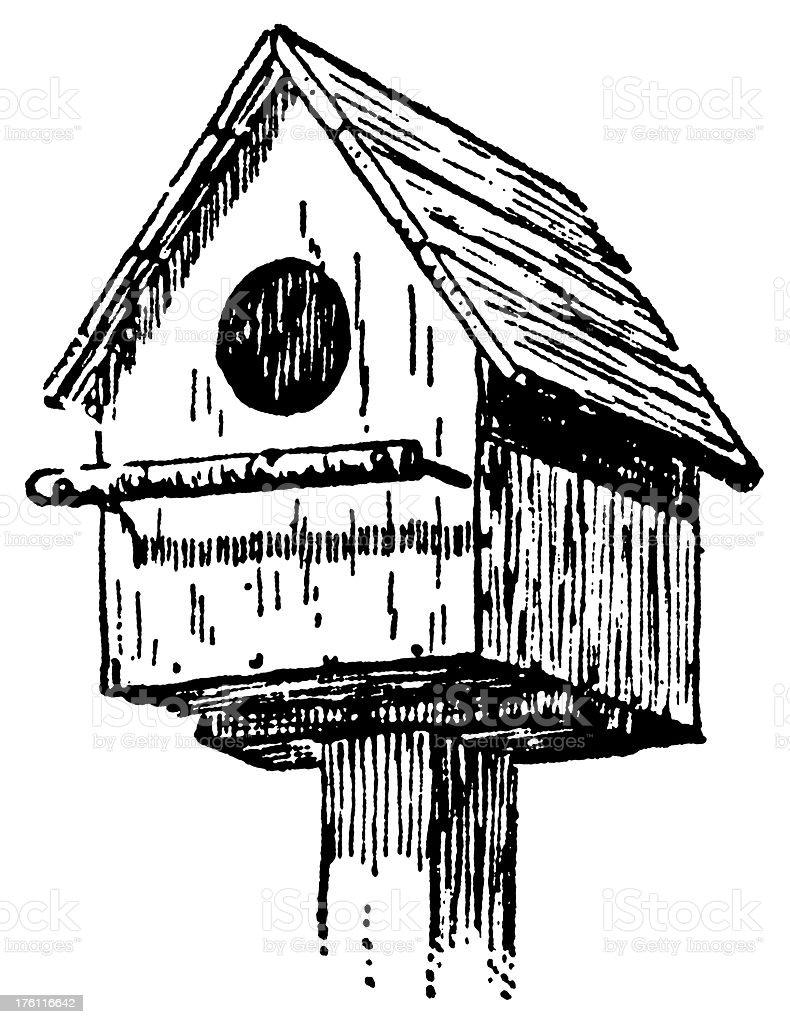 Birdhouse | Antique Design Illustrations vector art illustration