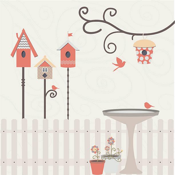 Birdie's Dream Yard vector art illustration