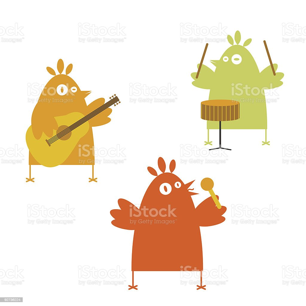 Birds' band - Royalty-free Animal Wing stock vector