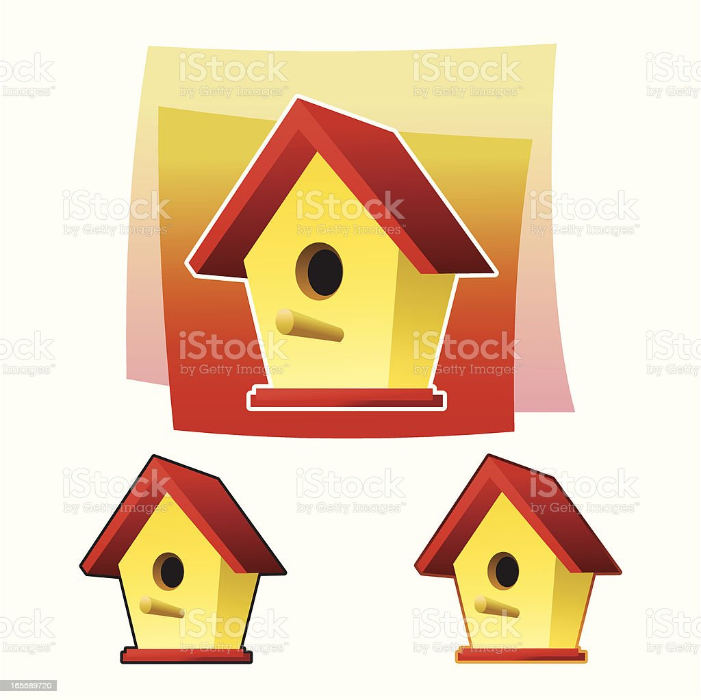 Birdshouse royalty-free stock vector art