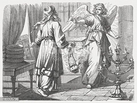 Ilustración de Anuncio Del Nacimiento Juan Bautista Luke 1 y más ...