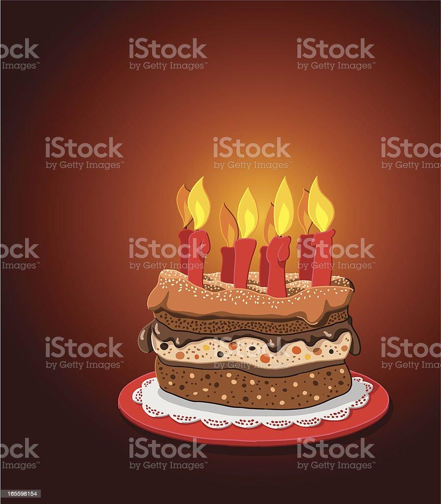 Pastel de cumpleaños ilustración de pastel de cumpleaños y más banco de imágenes de alimento libre de derechos