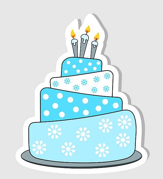 Royalty Free Cartoon Of Birthday Cake Outline Clip Art