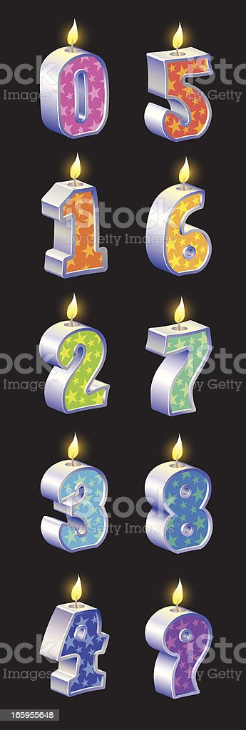 Birthday Candles Vector vector art illustration