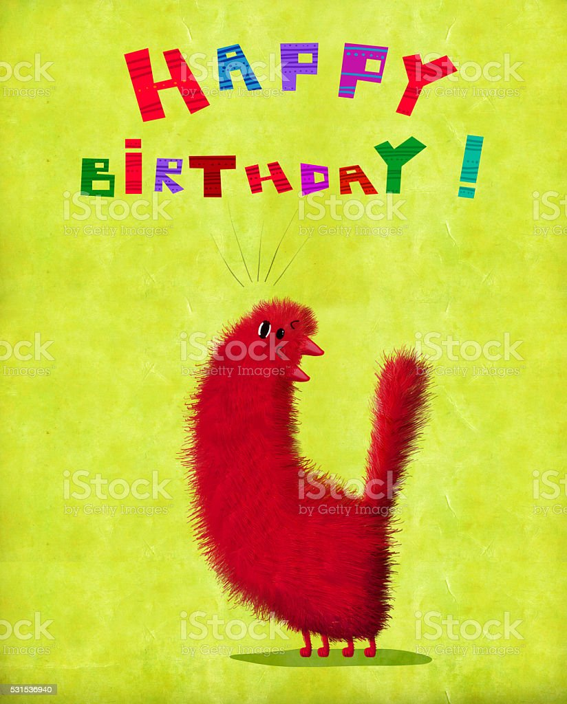 Birthday Card Cat Throwing Back Its Head And Singing