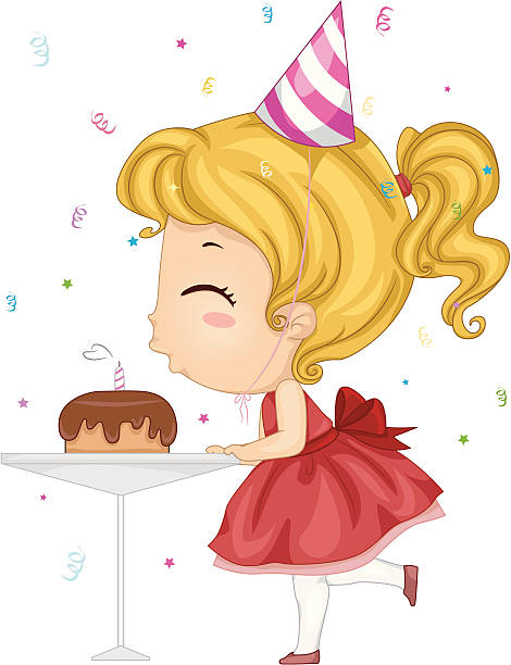 Best Blowing Out Candles Illustrations Royalty Free