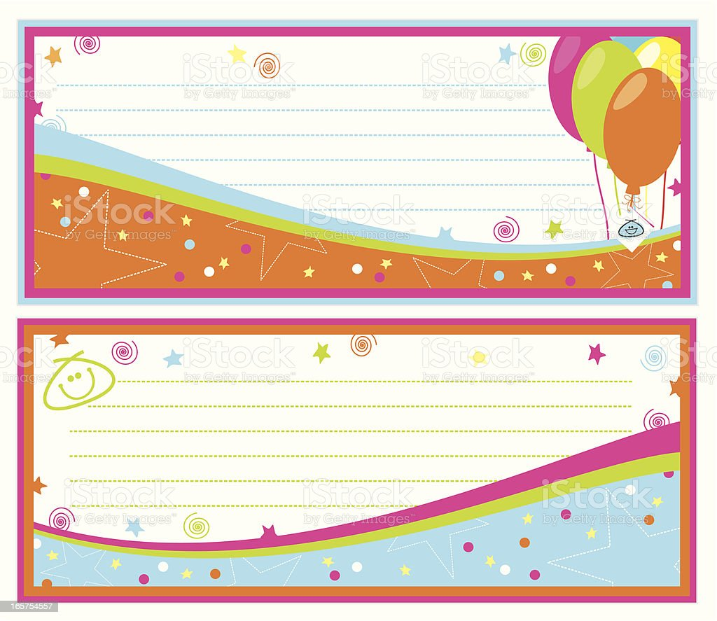 Birthday Party Banners royalty-free birthday party banners stock vector art & more images of anthropomorphic smiley face