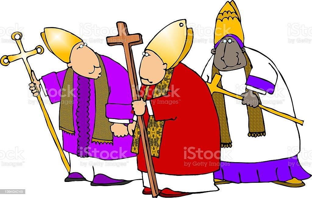 Bishops three royalty-free stock vector art
