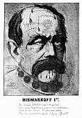 Bismarck cartoon from the year 1870 - Bismarckoff 1er