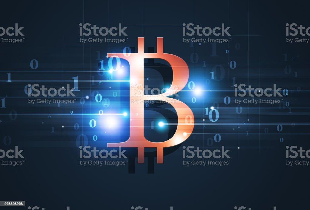 Bitcoin Blue Business Background vector art illustration