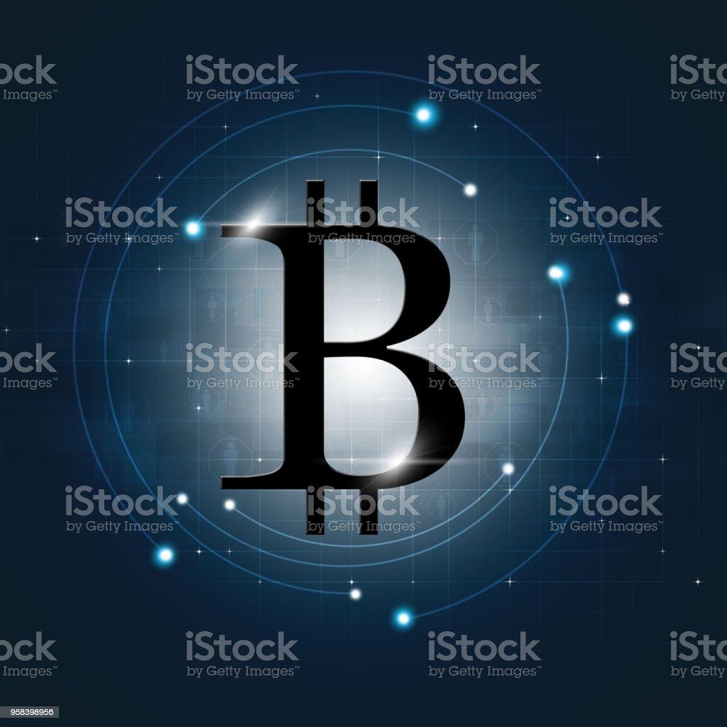 Bitcoin Digital Web Money vector art illustration