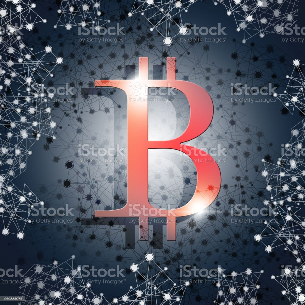 Bitcoin Internet Currency vector art illustration
