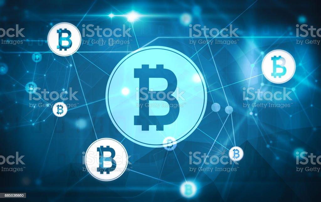 bitcoin network matrix vector art illustration