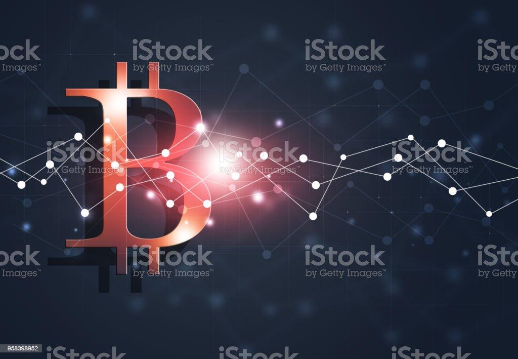 Bitcoin Web Business Background vector art illustration