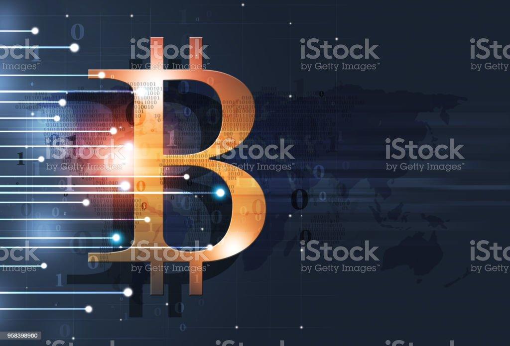 Bitcoin Web Crypto Money vector art illustration