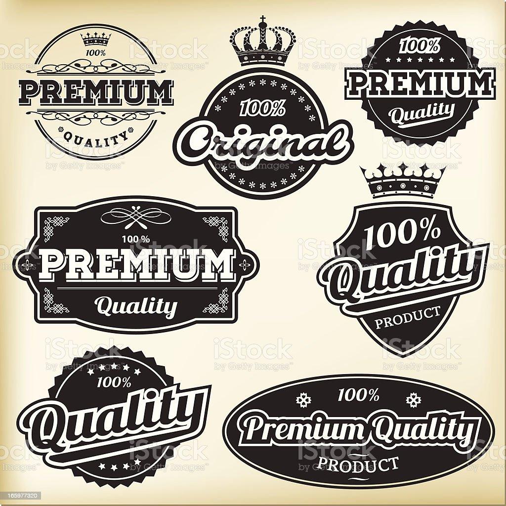 Black & white vintage labels royalty-free black amp white vintage labels stock vector art & more images of advice