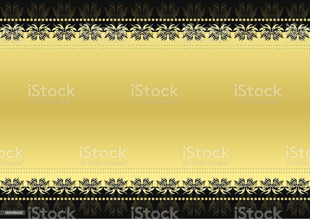 Black and gold royalty-free stock vector art