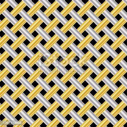 Black and Golden shiny seamless pattern texture. Vector illustration.