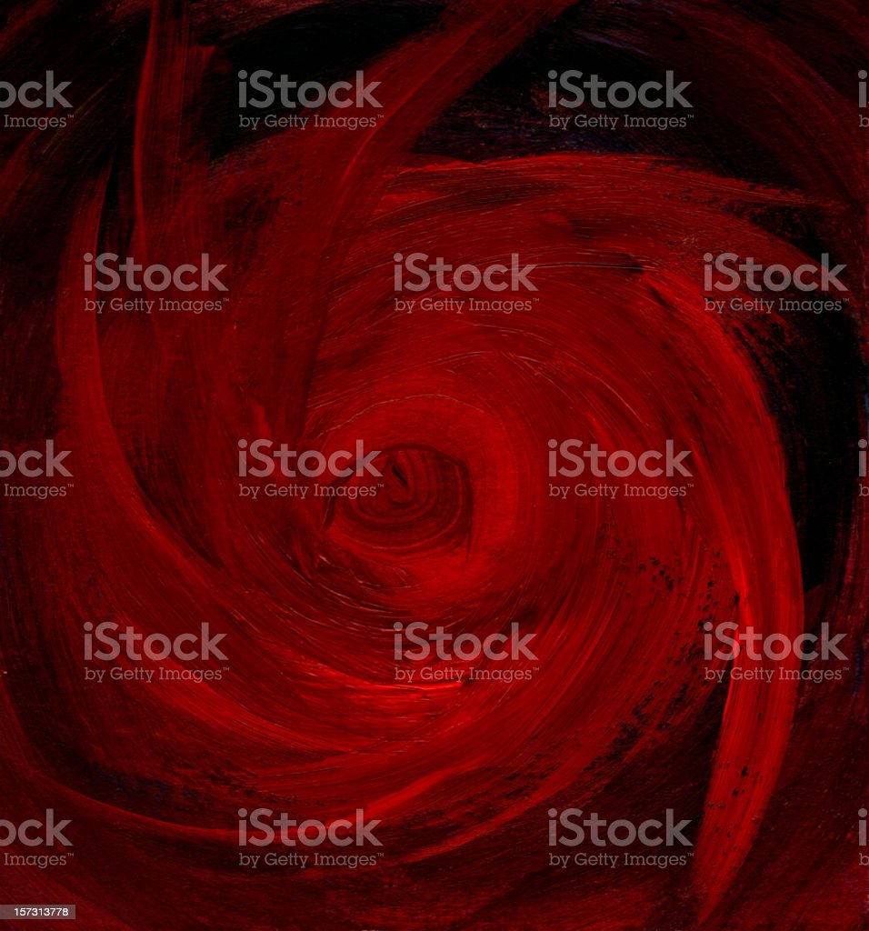 Black and Red Abstract Painting royalty-free stock vector art