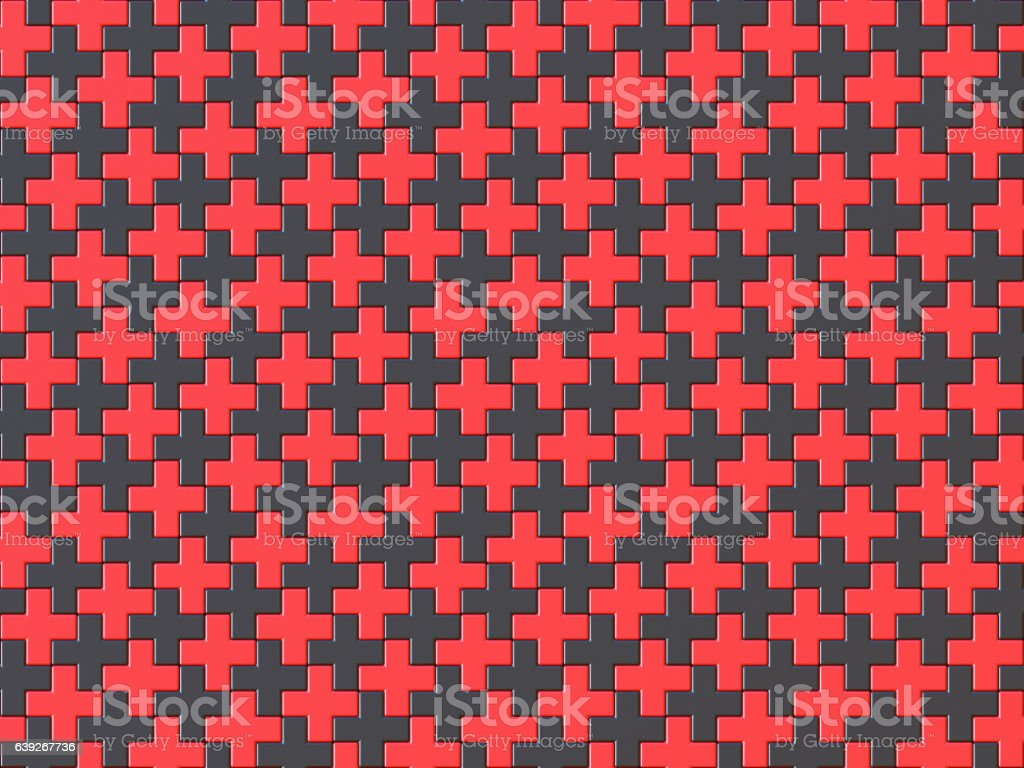 black and red cross jigsaw puzzle background seamless pattern 3