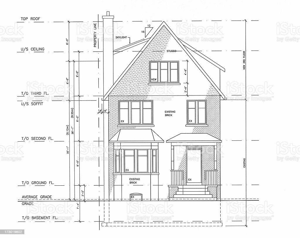 A black and white blueprint for a home royalty-free a black and white blueprint for a home stock vector art & more images of blueprint