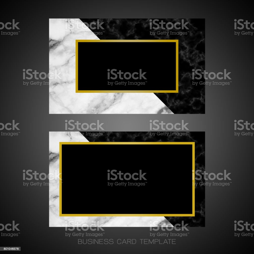 Black And White Marble Designer Business Card Layout Templates Stock - Business card layout template